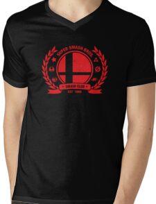 Smash Club (Red) Mens V-Neck T-Shirt