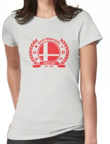 Smash Club (Red) Womens Fitted T-Shirt