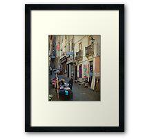 Ruas de Coimbra Framed Print