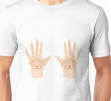 hands with henna Unisex T-Shirt