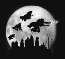 Full Moon over Hogwarts by doctormonekers