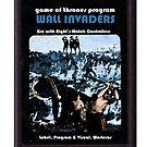 Wall Invaders, Retro Catridge by atlasspecter