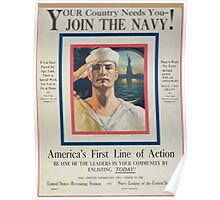 Your country needs you join the Navy! Poster
