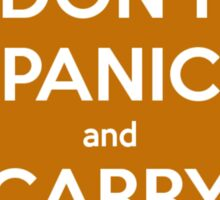 Don't Panic and Carry a Towel Sticker