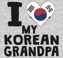 I Heart My Korean Grandpa Kids Tee