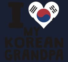 I Heart My Korean Grandpa One Piece - Long Sleeve