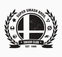 Smash Club (Black) Kids Tee