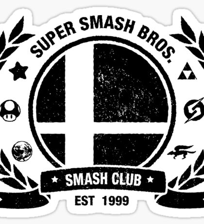 Smash Club (Black) Sticker