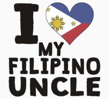 I Heart My Filipino Uncle Kids Tee
