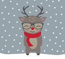 Merry Christmas Deer by KarinBijlsma