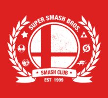 Smash Club (White) by Bryant Almonte Designs
