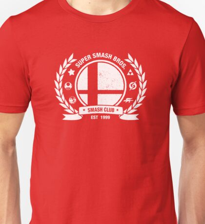 Smash Club (White) Unisex T-Shirt