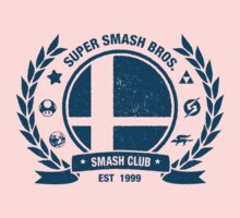 Smash Club (Blue) Baby Tee