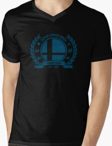 Smash Club (Blue) Mens V-Neck T-Shirt