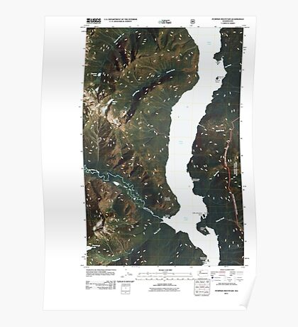 USGS Topo Map Washington State WA Pumpkin Mountain 20110425 TM Poster