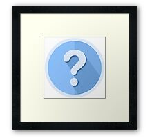 Question Mark Icon Framed Print