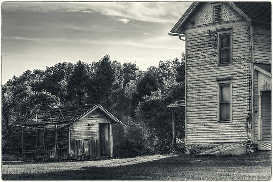 The Shed and Farmhouse by Aaron Campbell