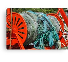 Rolled-Up Nets ~ Spanish Eyes lll Canvas Print