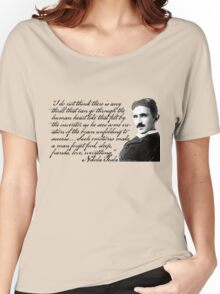 Nikola Tesla on Invention Women's Relaxed Fit T-Shirt