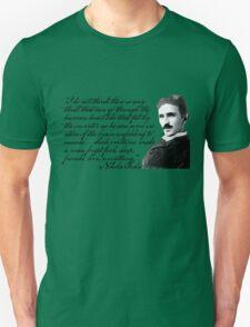Nikola Tesla on Invention Unisex T-Shirt