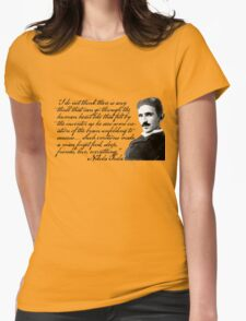 Nikola Tesla on Invention Womens Fitted T-Shirt