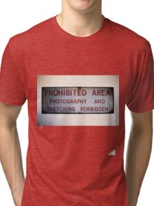 No Photography or Sketching  Tri-blend T-Shirt