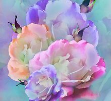 Pastel And Pink Tones Roses Photo Manipulation by artonwear