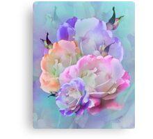 Pastel And Pink Tones Roses Photo Manipulation Metal Print