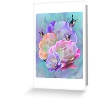 Pastel And Pink Tones Roses Photo Manipulation Greeting Card