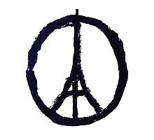 Peace, Pray For Paris Photographic Print