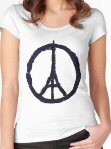 Peace, Pray For Paris Women's Fitted Scoop T-Shirt