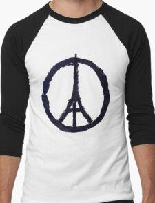 Peace, Pray For Paris Men's Baseball ¾ T-Shirt