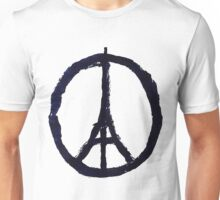 Peace, Pray For Paris Unisex T-Shirt