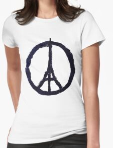 Peace, Pray For Paris Womens Fitted T-Shirt