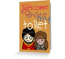 Toilet Greeting Card