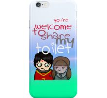 Toilet iPhone Case/Skin