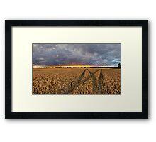 Panoramic Sunset Over Fields Framed Print