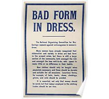 Bad form in dress 409 Poster