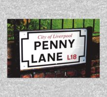 penny lane , Liverpool, England, sign One Piece - Short Sleeve