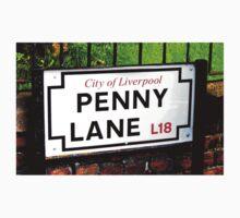penny lane , Liverpool, England, sign Kids Tee