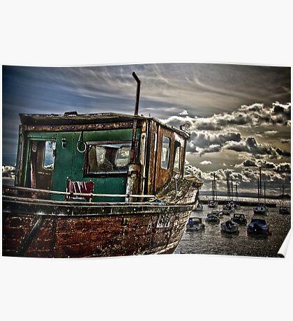 Dysart Wooden Boat Poster