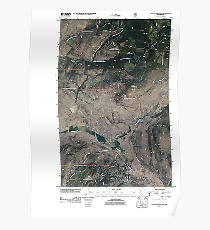 USGS Topo Map Washington State WA Cayuse Mountain 20110429 TM Poster
