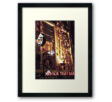 Black Tiger Bar Framed Print