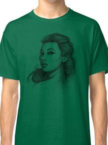 Beautiful Woman Artist Pencil Sketch 1 Classic T-Shirt