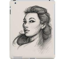 Beautiful Woman Artist Pencil Sketch 1 iPad Case/Skin