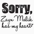 Sorry, Zayn Malik has my heart by 1DxShirtsXLove