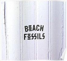Beach Fossils Original Font Poster