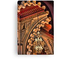 Morocco. Casablanca. Hassan II Mosque. Interior. Chandalier. Canvas Print