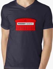 The question isn't where... Mens V-Neck T-Shirt