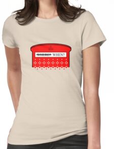 The question isn't where... Womens Fitted T-Shirt
